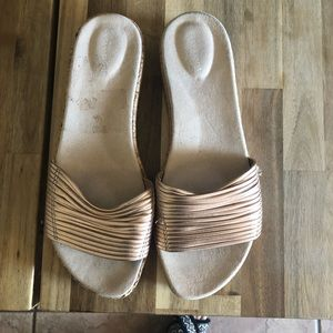 Easy Spirit Gold Slides